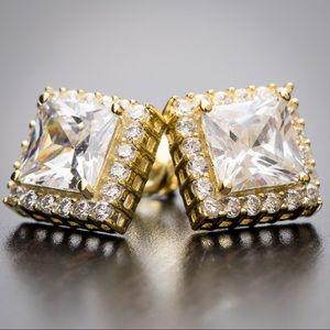 Men's Women's Square Stud Earrings